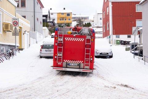 Trangt om plassen ... Foto: Kristiansund brann og redning på Facebook.