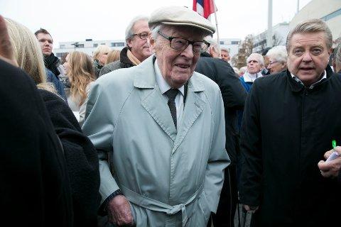 Per Jorsett, her sammen med tidligere idrettspresident Børre Rognlien.