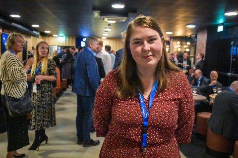 – Hvis landsmøtet er enig, så gleder jeg meg veldig til å jobbe hardt sammen med hele laget i AUF de neste to årene, sier Astrid Willa Eide Hoem.