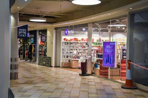 Den ene av de to Vita-butikkene på Alti Storkaia Brygge. Cosmetic Group, som eier Vita-butikkene i Norge, har levert inn konkursbegjæring til Oslo Byfogdembete.