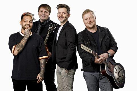 Klare for Kristiansund i juni: Alejandro Fuentes (fra venstre), Askil Holm, Espen Lind og Kurt Nilsen.