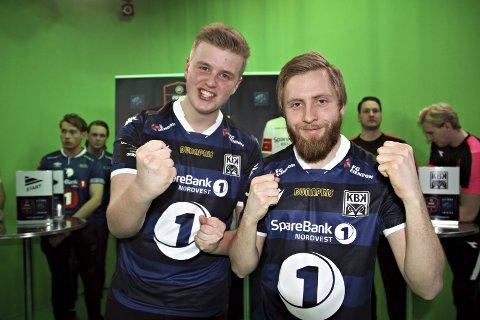 Gleder seg: Magnus Hendseth (til venstre) og Sindre Ohrstrand er klar for å spille i eSerien med KBK.