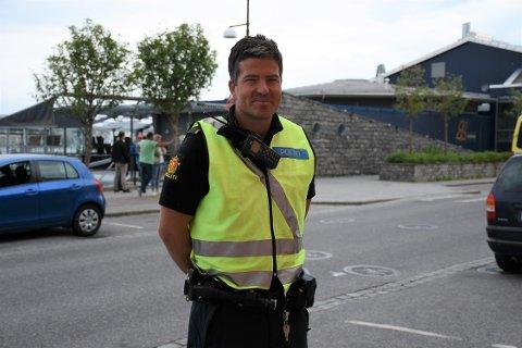 Politioverbetjent Ola Knudseth forteller at brannen ved Brasseriet raskt ble slokket.