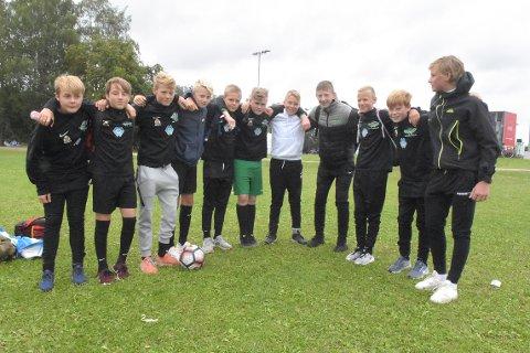 MÅLBONANZA: Frei gutter 14 i sjuerklassen satte ballen i mål hele 25 ganger i mandagens kamp. De legger ikke skjul på at de han ambisjoner om å nå langt i årets utgave av Norway Cup.
