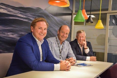 Kommunikasjonsrådgiver Even Gaarde-Landre (fra venstre), finansdirektør Steinar Sogn og administrerende direktør Odd Einar Folland kan se tilbake på et knallsterkt 2019.