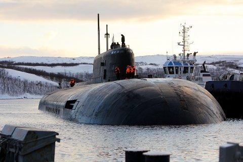 Bilde av fartøyet «Orel», som skal være av samme type som «Smolensk» og «Kursk».