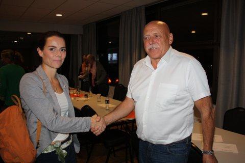 ENIGE: Marit Liabø Sandvik (Ap) blir varaordfører, mens Odd Jarle Svanem (Sp) blir ordfører i nye Heim kommune. Begge kommer fra dagens Hemne kommune.
