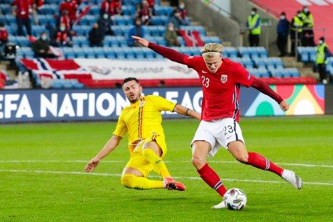 Erling Braut Haaland gjorde hattrick da Norge slo tilbake med 4-0-seier over Romania i nasjonsligaen.
