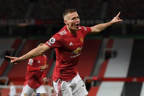 Scott McTominay feirer sitt og Manchester Uniteds andre mål før det var spilt tre minutter.