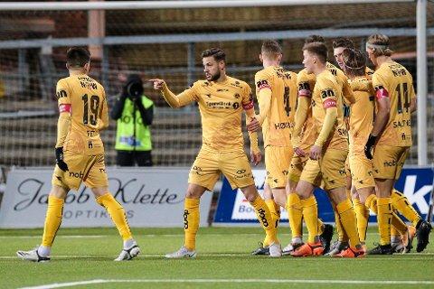 Bodø/Glimts Philip Zinckernagel scoret kampens første mål på Aspmyra. Hjemmelaget vant til slutt 5-2 mot Stabæk.