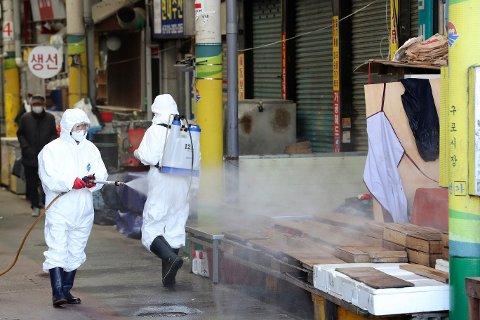 Det er påvist 123 nye tilfeller av det nye koronaviruset i Sør-Korea.
