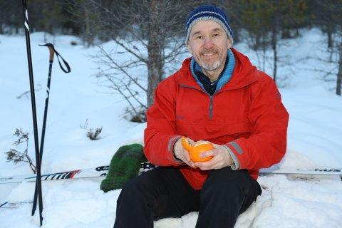 Friskus: Roar Halten på skitur på Prestmyra på Frei i Kristiansund.