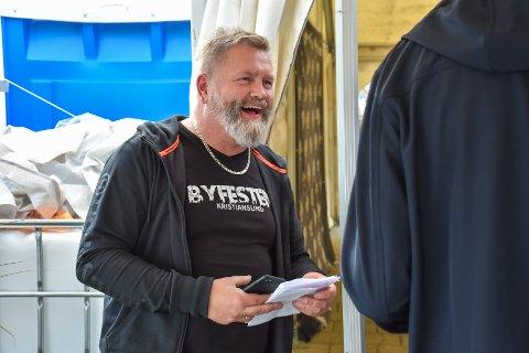 Spøkefugl: Øivind Frisvold, sjef hos Byfesten, er glad i tradisjoner. Og 1. aprilspøker.