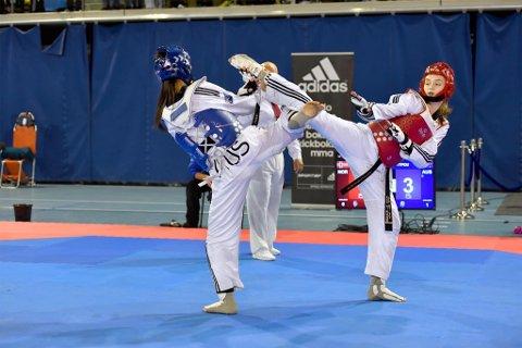 Mari Romundset Nilsen er blant landets mest lovende utøvere i taekwondo.