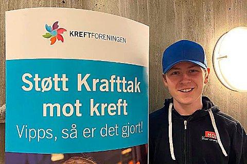 Komitéleder Benjamin Skålvik Rønning ved Surnadal vidaregåande skole håper på god oppslutning om innsamlingsaksjonen Krafttak mot kreft.