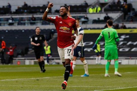 Fred satte utligningen for Manchester United.