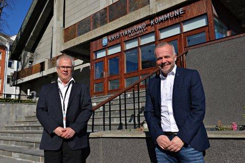 NEAS  hadde i 2020 et årsresultat på 238 millioner før skatt. Av dette kommer 186 millioner fra salget av aksjeposten i TrønderEnergi. - Det er gledelig at salget brukes til å styrke det lokale eierskapet, sier styreleder Kjell Neergaard (til høyre). Her sammen med adm. dir Knut Hansen.
