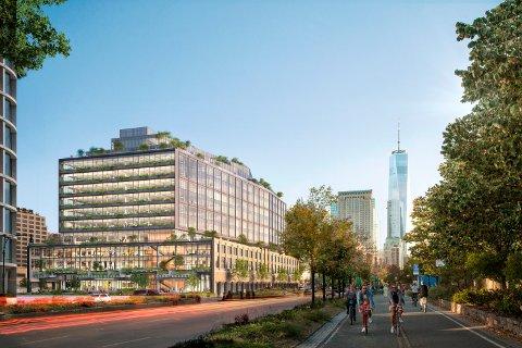 Slik skal Googles nye kontorbygg i New York se ut når det står ferdig. Arbeidet er i gang, og nå skal Hydro Sunndal levere fasadematerialer til verdens femte største selskap.