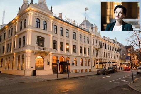 Ida Elisabeth Dønheim håper de kan åpne dørene på Britannia Hotel igjen den 9. juni.