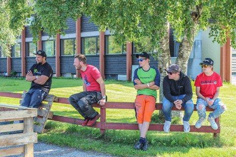 Sommersprell doblet nesten antall påmeldte fra i fjor. Fra venstre; Eren Nilsen, Kent Ove Aandal, Leif Jr. Hegstad, Aron Haugen Mathisen og Lasse Hegstad.