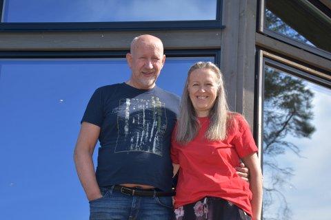 Jan Arve Kvisvik og Irina Golovtchanova bor på Haugen Gård i Aure. Her planlegger de å bygge et eget friluftsområde for turglade mennesker.