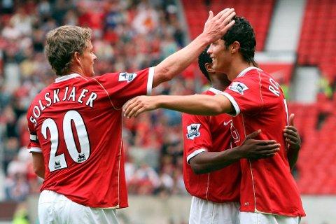 Cristiano Ronaldo spilte tidligere sammen med Ole Gunnar Solskjær i Manchester United. Nå gjenforenes de to som spiller og manager.