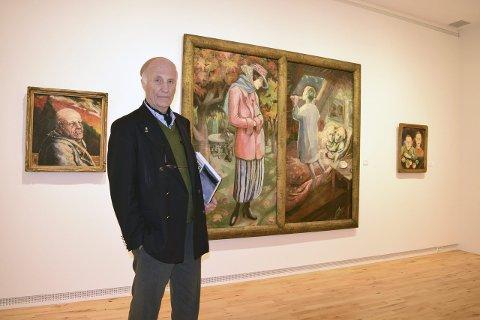Haugar: I år kan du blant annet se malerier som kunstsamler Haakon Mehren (bildet) har lånt ut.
