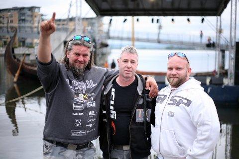 JESUSSHOW: TX Vikings er ikke i underholdningsbransjen, men forkynner evangeliet, sier Thure André «Icebreaker» Eriksen (til venstre), Raymond «DJ Mecanic» Groth (i midten) og Marius «Champion» Berg Eliesen.
