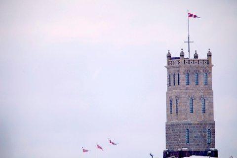 DEBATT: Korset på Slottsfjellet skapte debatt.