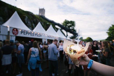 MATPROGRAMMET ER SLUPPET: Slottsfjellfestivalen har en lang liste med mat-aktører i år.