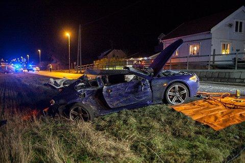 KJØRTE UT: Én mann i 40-årene ble alvorlig skadet etter at han kjørte av veien natt til 1. nyttårsdag.