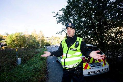 Trygg trafikk: Målet for politiet er ikke å skrive bøter, men å sikre trafikken, påpeker Stig Inge Bakken i utrykningspolitiet på Romerike.