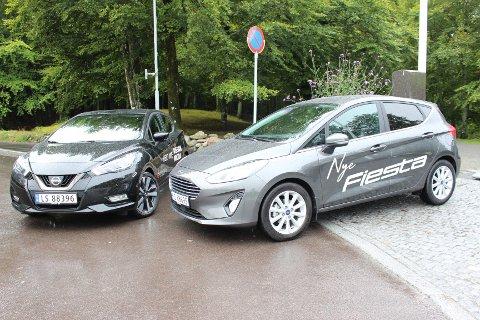 SPENNENDE NYKOMMERE: Småbilklassen øker – vi har sett nærmere på de nye utgavene av Nissan Micra og Ford Fiesta. Hvem er best?