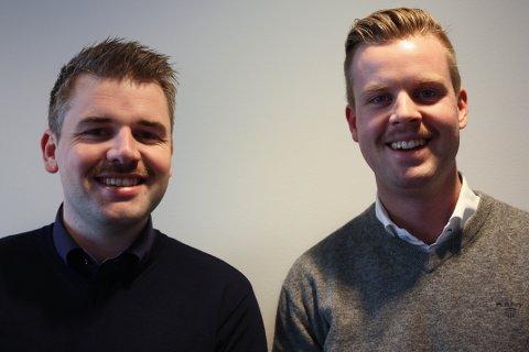 ENIGE: Meglere i Z-eiendom, Richard Askjem og Lars Ole Wittingsrud, er enige om at barten skal bort ved månedsslutt.
