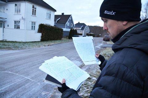 JØDEHAT: I dette brevet, som starter med Kjære mor, øser Kåre Stang ut sitt hat mot jødene. Kåre Stang var bostyrer for de verdiene som ble frarøvet jødene som ble deportert.