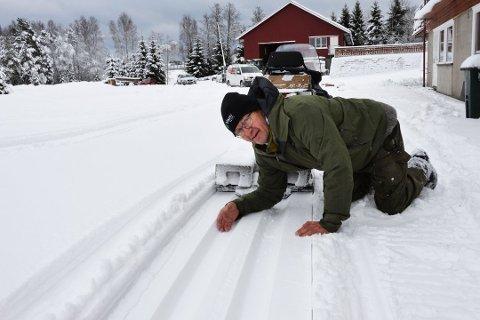 SESONGBESTE: Tom Horntvedt kan levere årsbeste av skiløyper i Storås.
