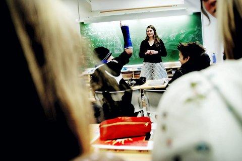 SKOLESTRESS: 38 prosent av jentene og 19 prosent av guttene sier at de ofte opplever skolestress, ifølge Ungdata-undersøkelsen.