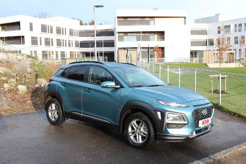 BELEILIG NYKOMMER: Kona er en ny SUV fra Hyundai som også kommer i elektrisk utgave og dermed passer det norske markedet svært godt.