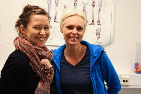 FYSIOTERAPEUTER: Både Ellen Ryeng (t.v) og Heidi Prøsch er fysioterapeuter. Ved Aquafrisk spesialiserte de seg på trening og behandling av bekkenbunnsproblematikk.