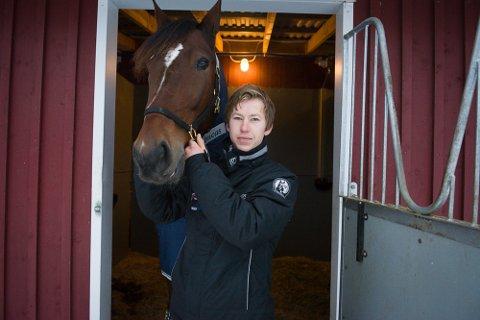 FRISKE OG RASKE: Travtrener Marius Høitomt kan bekrefte at to kaldblodshester døde, men nå er alle hestene friske og raske.