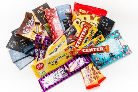 MYE NAM NAM: Vår store smakstest av sjokolade viser at Nettavisens ansatte er noen sukkermonstre, som opplever stor variasjon i hva som er salt og hva som er for mye. Foto: Paul Weaver (NA Bilder)