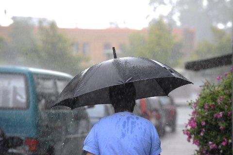 NEDBØR: Man kan forvente regn hver dag denne uka. Arkivfoto