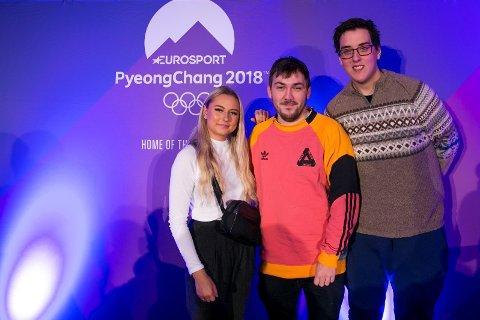 ENGASJERER: Youtuberne Amalie Olsen og Prebz & Dennis (Preben Fjell og Dennis Vareide) blir en del av laget til Eurosport og TVNorge, og reiser til Pyeongchang i februar for å formidle OL på sin egen måte, via YouTube og andre digitale flater.