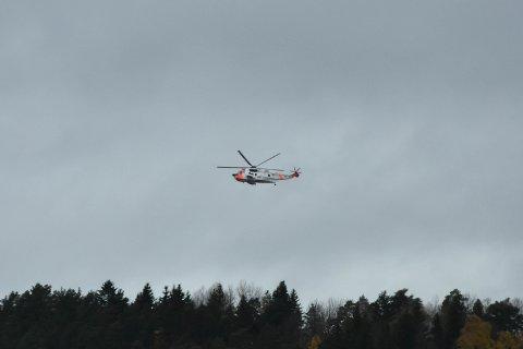 BLE TILKALT: Sea King-helikopteret ble tilkalt, men ble ikke benyttet.