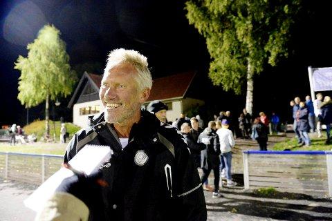 FORNØYD: Teies trener Geir Westlie har grunn til å være fornøyd etter at TFK ble banket 8–0 torsdag kveld. Bildet er tatt i en annen anledning.