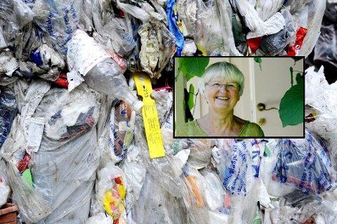 Plasten må bort - og Randi Hagen Fjellberg (MDG) foreslår å begynne med matbutikkene.