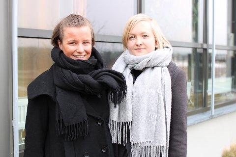DISKUSJON: Etter å ha tatt en ny runde om barnehagebarn kan delta i 17.-maitoget, har 17.-maikomiteen snudd fra et nei og sier nå ja. Fra venstre Karoline Aarvold, leder og Hanna Murel, nestleder.