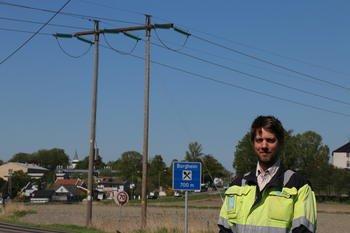 PROSJEKTLEDER: Helge Øverland er Skagerak Netts prosjektleder for ombyggingen av regionalnettledningen på Nøtterøy. Foto: Kjell Løyland