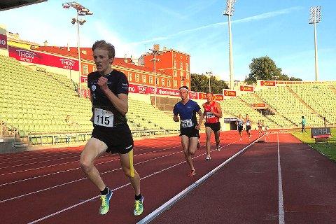SOMMERFORM: Skiløper Eirik Mysen viste solid sommerform på Bislett stadion.