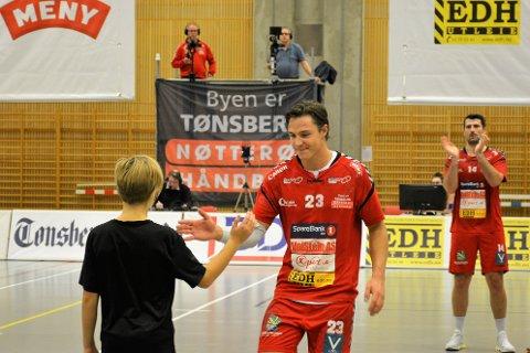 DOBBEL SVIKT: Nøtterøys beste spiller Christian Ørjevik Westby sier laget tapte dueller uten å demme opp for det kollektivt.